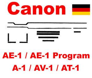 Canon AE-1 / AE-1Program / A-1 / AT-1 / AV-1  Lichtdichtung Set - Light Seal Kit