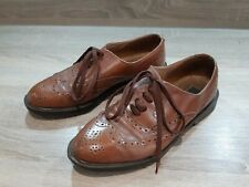 Vintage Farah Brown Leather Brogues Benchmark Soles Size 7