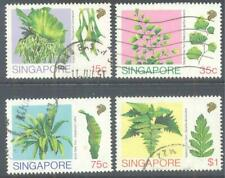 SINGAPORE 1990 Ferns Set of 4 to $1 Used