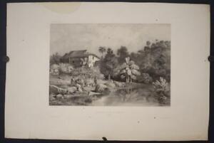 RIO DE JANEIRO BRAZIL 1840 VAILLANT UNUSUAL ANTIQUE ORIGINAL LITHOGRAPHIC VIEW