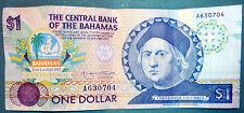 BAHAMAS 1 DOLLAR COMMEMORATIVE  NOTE FROM 1992, P 50, COLUMBUS