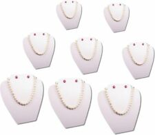 "8Pc SET 8""H WHITE EASEL NECKLACE EARRING PENDANT CHAIN JEWELRY DISPLAY PJ14W8"