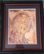 Dali ~ EXPLODING HEAD OF THE VIRGIN ~ RARE Etching Repo Canvas 12 x 16 ~ Framed