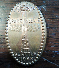 SEATTLE WORLD'S FAIR *** ELONGATED CENT *** SPACE NEEDLE *** LPE-9 ** SEATTLE 62