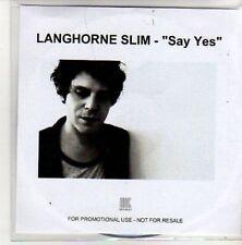 (AL450) Langhorne Slim, Say Yes - DJ CD