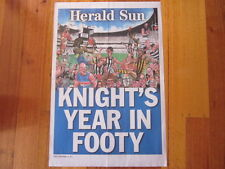2011 HERALD SUN AFL NEWSPAPER HEADLINE POSTER KNIGHT'S YEAR IN FOOTY