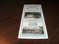 1997 JUNCTION VALLEY RAILROAD TIMETABLE AND BROCHURE