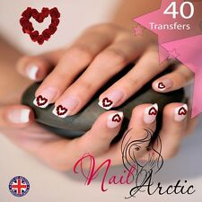 Día de San Valentín corazones Gr6 Nail Art de transferencia de agua Pegatina Calcomanías Pegatinas consejos X 40