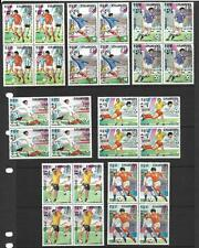 KAMPUCHEA, 1985 FOOTBALL, MEXICO, SG 590-6 MNH BLOCKS 4, CAT 23 GBP+