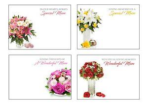 LARGE FLORIST SYMPATHY FUNERAL CARDS MUM DAD HUSBAND WIFE GRAN CHRISTIAN