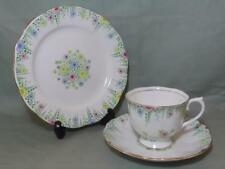 Royal Albert Crown China Lynton TRIO TAZZA PIATTINO Tè PIASTRA LATERALE & PATT. 1528