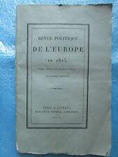BOURGUIGNON D'HERBIGNY : REVUE POLITIQUE DE L'EUROPE EN 1825.