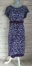 G67 Boden Size 22 Dress Purple Belted. Two layer