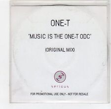 (FE50) One-T, Music is the One-T ODC - DJ CD