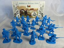 Accurate Revolutionary War Toy Soldiers American Militia (Blue) (54MM) x 20
