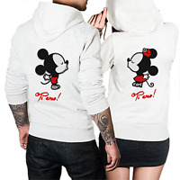 Felpe di coppia King   Queen Mickey Minnie con Cappuccio b0198af17c05