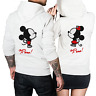 Felpe di coppia King & Queen Mickey Minnie con Cappuccio, Regalo San Valentino
