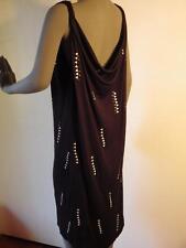 David Szeto Black Dress Low Draped Back Collection Massai Irma la Douce 40/ 10/M