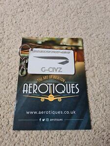 British Airways 747-400 G-CIVZ white skin tag keyring