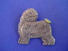 Old English Sheepdog Butterfly on Rear Pin Dog Jewelry by Cindy A. Conter 58B