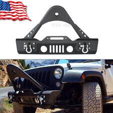 Stubby Front Bumper W/ Stinger & OE Fog Light Housing For 07-18 Jeep Wrangler JK