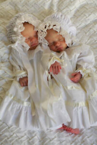 FREE SHIPPING_ NEW Smocked Baby's Bonnet - Gemini _ From Preemie to 18 M