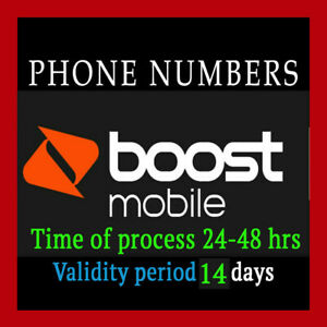 BOOST 10 Prepaid Numbers For Port! Any area Code/ Boost 10 numbers to port