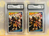 1984 Topps 2x Eric Dickerson #1 Rookie 8-8.5 NM-MT+ GMA Graded Football Card LOT