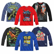 Super Mario Long Sleeve T-Shirts & Tops (2-16 Years) for Boys