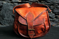 New Women's Brown Leather Messenger Bag Cross body Shoulder Satchel Handbag