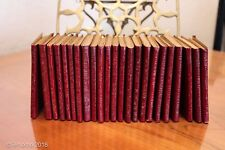Set of 23 Antique Miniature Little Leather Library Luxart Books