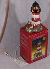 SANTA'S WORKBENCH COLLECTION Towne Series Bayside Lighthouse Lights Up 2001