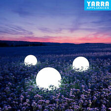 Solar Powered Waterproof LED Ball Light Outdoor Garden Path Way Lamp Decor