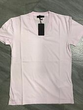 Authentic Mens Prada Classic Light Pink V-Neck Cotton Jersey T-Shirt Size XS