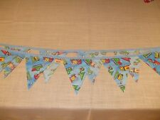 Hand made bunting - tractors and trucks/boys room