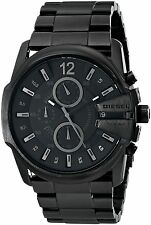 Diesel Men's DZ4180 'Black out' Chronograph Black Stainless steel Watch
