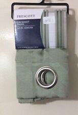 Prescott Grommet Light Green Window Curtain Panels Pair 63 Inches