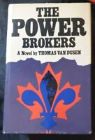 The Power Brokers: A Novel  By Thomas Van Dusen 1976 HB/DJ 1st edition SIGNED