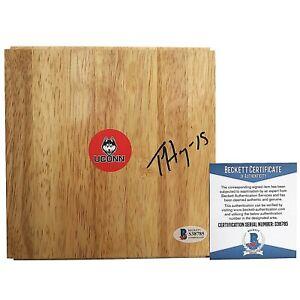 Tiffany Hayes UConn Huskies Signed Basketball Floor Board Beckett Cert Autograph