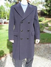SAKS FIFTH AVENUE Wool Overcoat 40 R - Crombie - Made in England