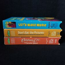 Sesame Street VHS Lot (Let's Make Music, Don't Eat the Pictures & Christmas Eve)