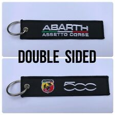 Car Embroidered Key Ring Keyring Keyfob Gift Abarth 500 T Jet TC 595 695 Sport