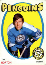 Custom made opc 1971-72 Pittsburgh Penguins Tim Horton hockey Card posed