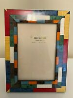 NEW Natalini Hand Italy Marquetry Lacquer Photo Picture Frame 4x6 Multicolor
