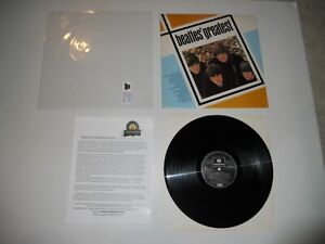 Beatles Greatest Hits Sweden Import 1st Analog '79 EXC ULTRASONIC Clean