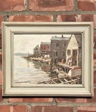 Richard Sigafoos Impressionst Painting. Stonington Harbor Maine. Signed
