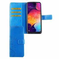 Samsung Galaxy A50 Étui Coque pour Portable Sac de Protection Clapet Housse Blau