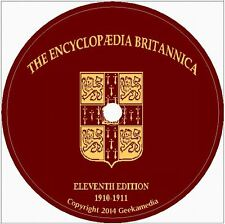 Encyclopedia Britannica 11th Edition 33 Vol DVD World Books War History Map
