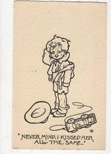 Never Mind I Kissed Jer All The Same Vintage Comic Children Postcard 383a