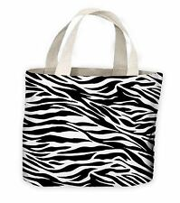 Zebra Stripe Pattern Tote Shopping Bag For Life
